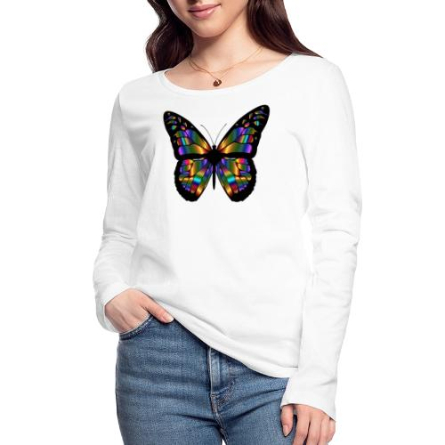 papillon design - T-shirt manches longues bio Stanley & Stella Femme