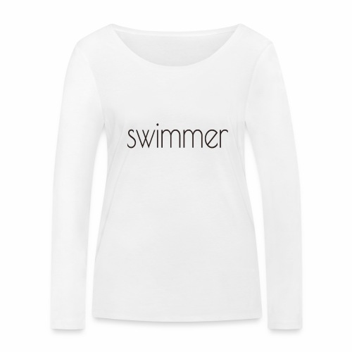 swimmer text - Frauen Bio-Langarmshirt von Stanley & Stella