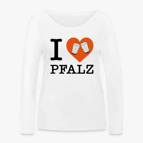 I love Pfalz – Dubbeglas - Frauen Bio-Langarmshirt von Stanley & Stella