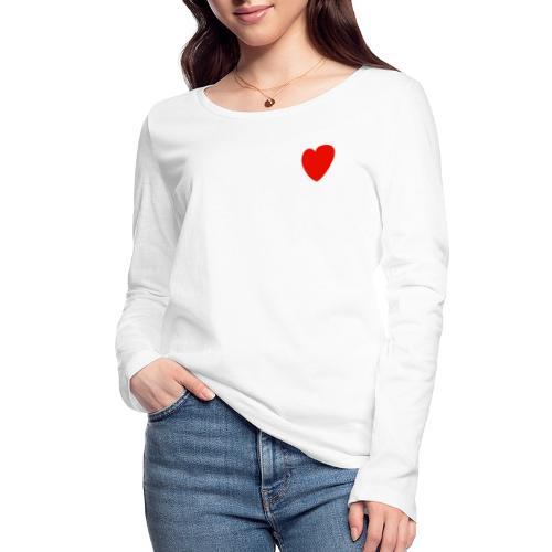 Herz - Frauen Bio-Langarmshirt von Stanley & Stella