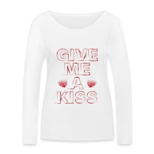 kiss - Maglietta a manica lunga ecologica da donna di Stanley & Stella