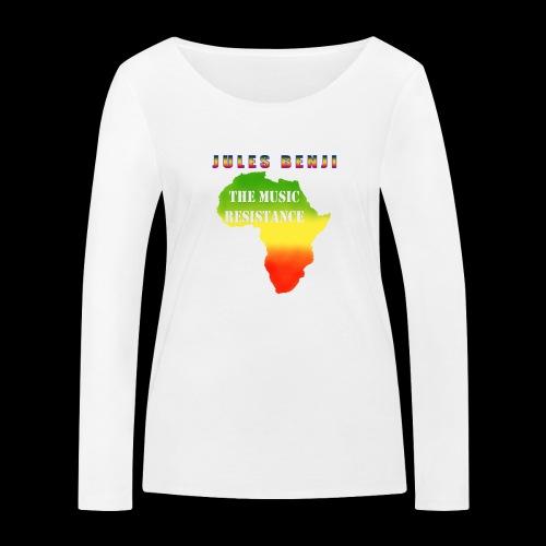JULES BENJI & MUSIC RESISTANCE africa design - Women's Organic Longsleeve Shirt by Stanley & Stella