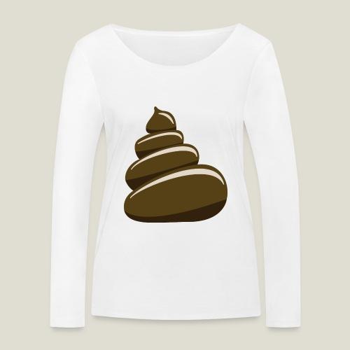Bajskorv, Turd, Crap, Poop, Shit, Shite - Ekologisk långärmad T-shirt dam från Stanley & Stella