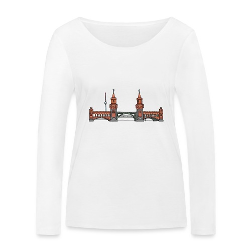 Oberbaumbrücke à BERLIN c - T-shirt manches longues bio Stanley & Stella Femme