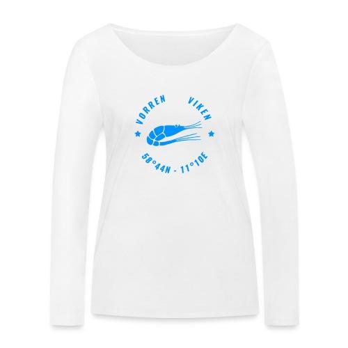 Vorren Logo MODERN [Blue] - Ekologisk långärmad T-shirt dam från Stanley & Stella
