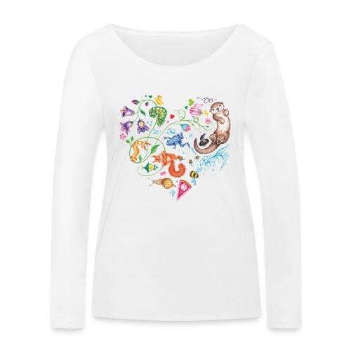 Heart by Maria Tiqwah - Women's Organic Longsleeve Shirt by Stanley & Stella