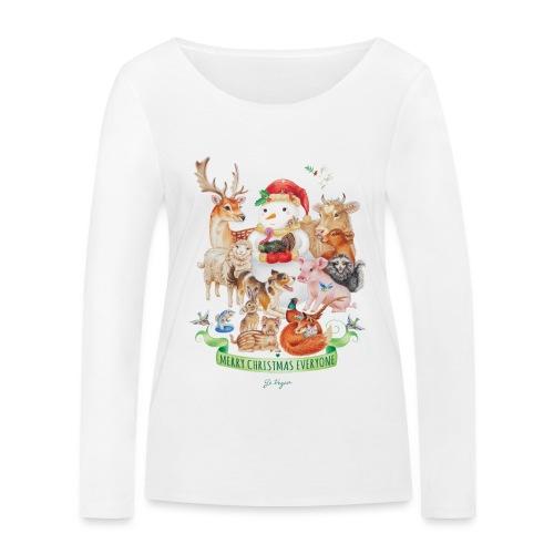 vegan-christmas-green - Women's Organic Longsleeve Shirt by Stanley & Stella