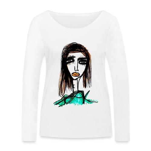 Long Lashes - Ekologisk långärmad T-shirt dam från Stanley & Stella
