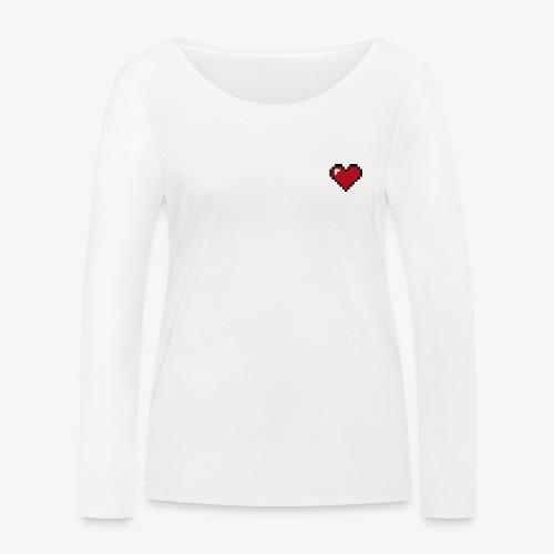 Pixel heart - T-shirt manches longues bio Stanley & Stella Femme
