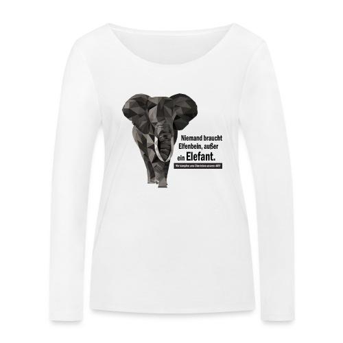 Niemand braucht Elfenbein, außer ein Elefant! - Frauen Bio-Langarmshirt von Stanley & Stella