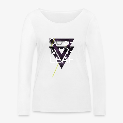 Cosmicleaf Triangles - Women's Organic Longsleeve Shirt by Stanley & Stella
