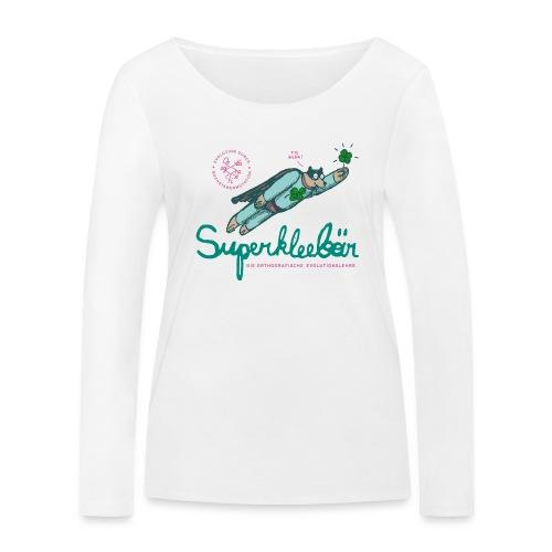 Der Superkleebär - Frauen Bio-Langarmshirt von Stanley & Stella