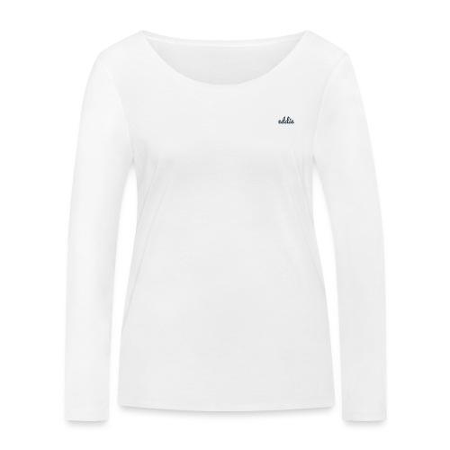 eddie signature line navy - Frauen Bio-Langarmshirt von Stanley & Stella