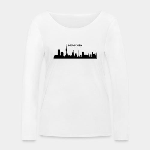 München Skyline - Frauen Bio-Langarmshirt von Stanley & Stella