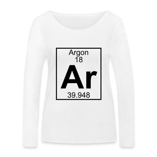 Argon (Ar) (element 18) - Women's Organic Longsleeve Shirt by Stanley & Stella