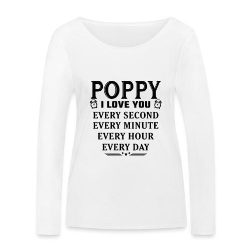 I Love You Poppy - Women's Organic Longsleeve Shirt by Stanley & Stella