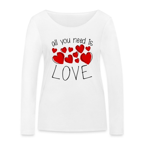 All you need is love - Frauen Bio-Langarmshirt von Stanley & Stella