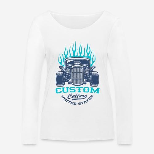 Custom Car USA - Frauen Bio-Langarmshirt von Stanley & Stella