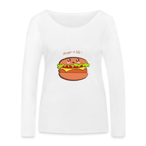 hamburger - T-shirt manches longues bio Stanley & Stella Femme