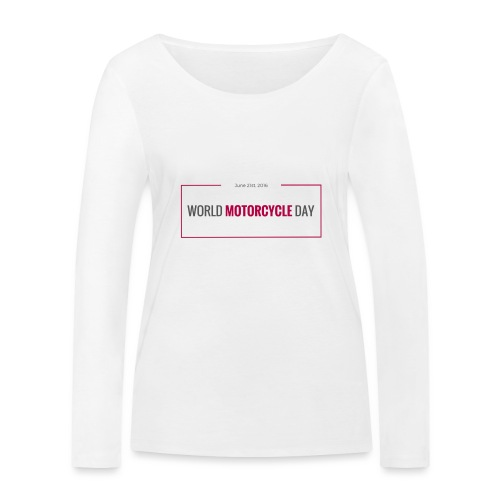 World Motorcycle Day 2016 Official T-Shirt ~ Grey - Women's Organic Longsleeve Shirt by Stanley & Stella