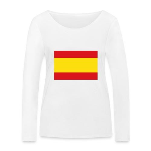 vlag van spanje - Vrouwen bio shirt met lange mouwen van Stanley & Stella