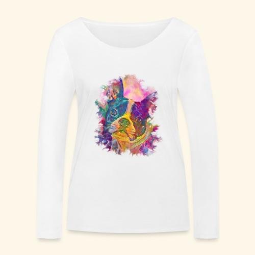 BULLDOG FRANCES - Camiseta de manga larga ecológica mujer de Stanley & Stella
