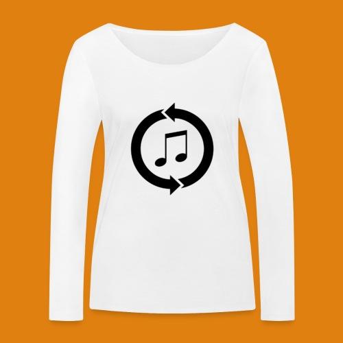 music, renew music, music, t-shirt music - Women's Organic Longsleeve Shirt by Stanley & Stella