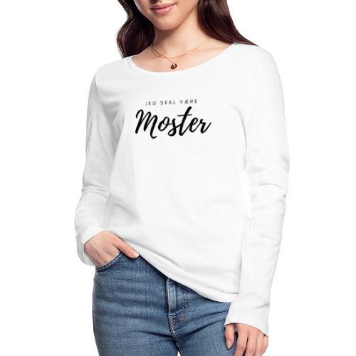 Jeg skal være moster - Økologisk Stanley & Stella langærmet T-shirt til damer