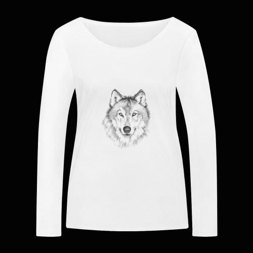 Wolf - Økologisk Stanley & Stella langærmet T-shirt til damer