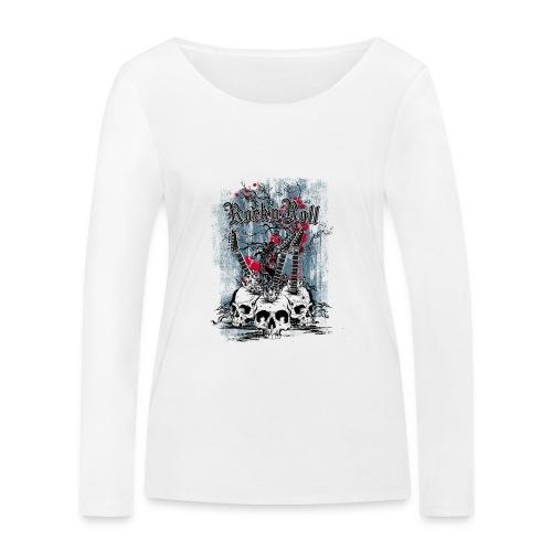 rock n roll skulls - Vrouwen bio shirt met lange mouwen van Stanley & Stella