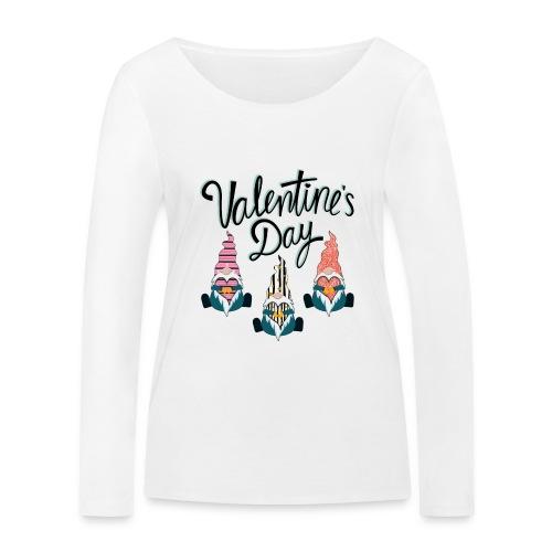 Valentine's Day Gnome - Women's Organic Longsleeve Shirt by Stanley & Stella