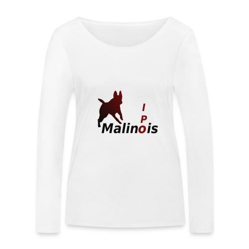 IPO Malinois Männer T-Shirt V Ausschnitt - Frauen Bio-Langarmshirt von Stanley & Stella