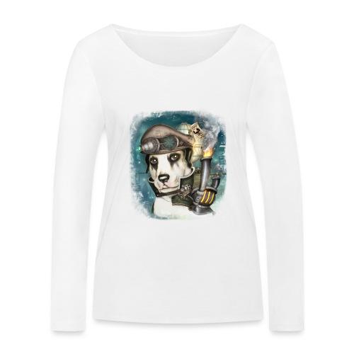 Steampunk Dog #2b - Maglietta a manica lunga ecologica da donna di Stanley & Stella