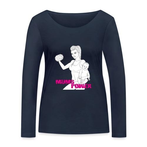 MUMS POWER - Camiseta de manga larga ecológica mujer de Stanley & Stella