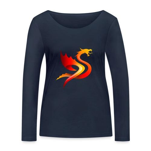 Slay Dragons - Stanley & Stellan naisten pitkähihainen luomupaita