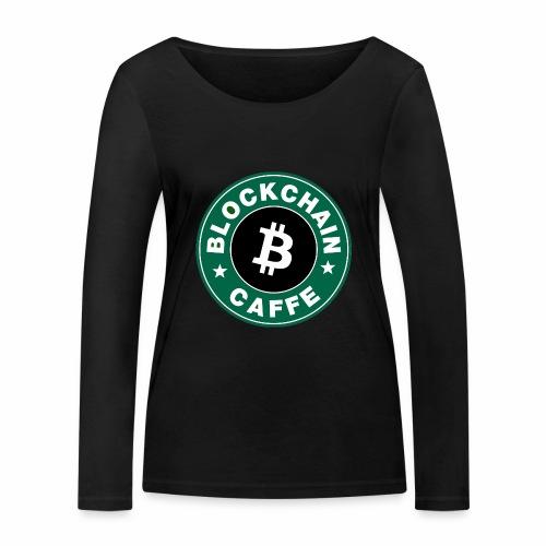 BlockChain Caffè Logo - Maglietta a manica lunga ecologica da donna di Stanley & Stella