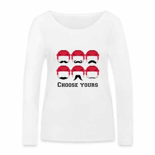 novembre et moustache - T-shirt manches longues bio Stanley & Stella Femme