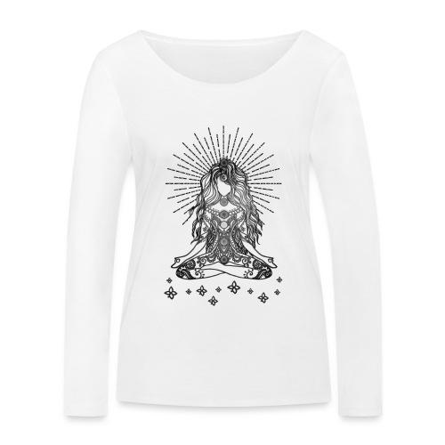 Boho Yoga Mädel Happy Life - Frauen Bio-Langarmshirt von Stanley & Stella
