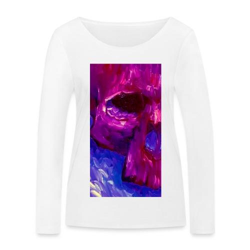 Purple Skull #2 - Vrouwen bio shirt met lange mouwen van Stanley & Stella