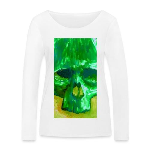 Green Skull - Vrouwen bio shirt met lange mouwen van Stanley & Stella