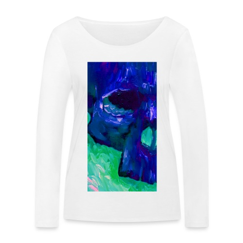 Blue Skull #2 - Vrouwen bio shirt met lange mouwen van Stanley & Stella