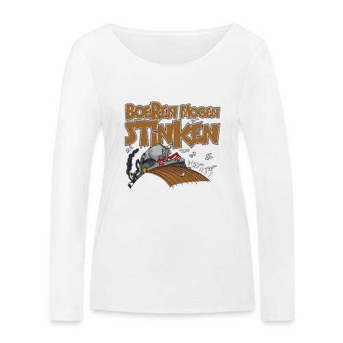 boeren mogen stinken NL - Vrouwen bio shirt met lange mouwen van Stanley & Stella