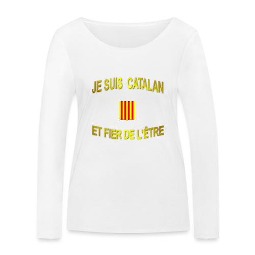 Tee-Shirt supporter du pays CATALAN - T-shirt manches longues bio Stanley & Stella Femme