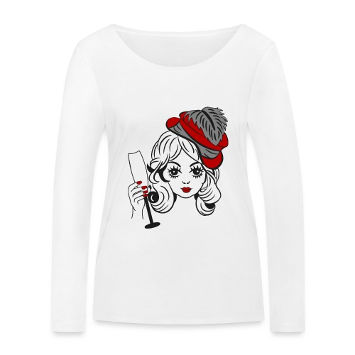 Cheers vintage girl - Vrouwen bio shirt met lange mouwen van Stanley & Stella