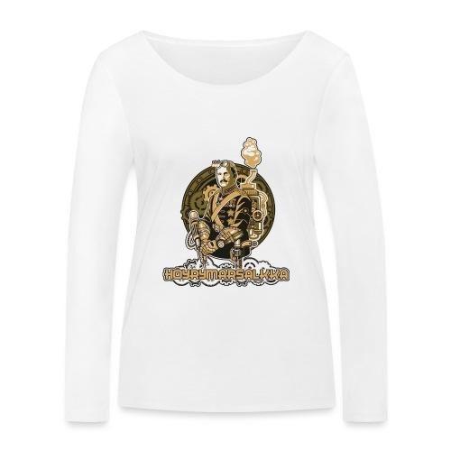 Höyrymarsalkan upea naisten T-paita - Stanley & Stellan naisten pitkähihainen luomupaita
