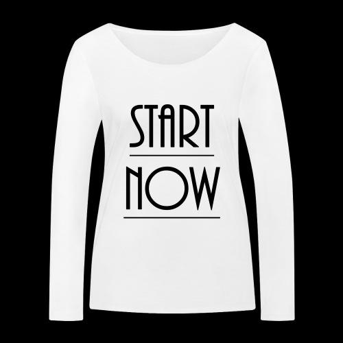start now - Frauen Bio-Langarmshirt von Stanley & Stella