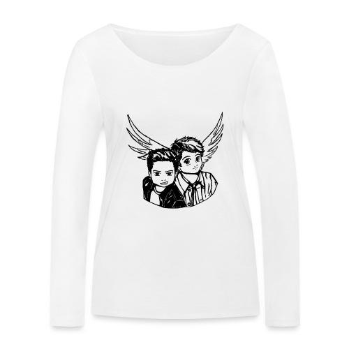 Destiel i sort/hvid - Økologisk Stanley & Stella langærmet T-shirt til damer