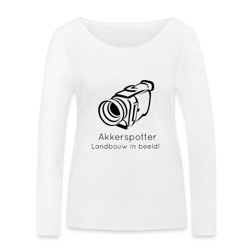 Logo akkerspotter - Vrouwen bio shirt met lange mouwen van Stanley & Stella