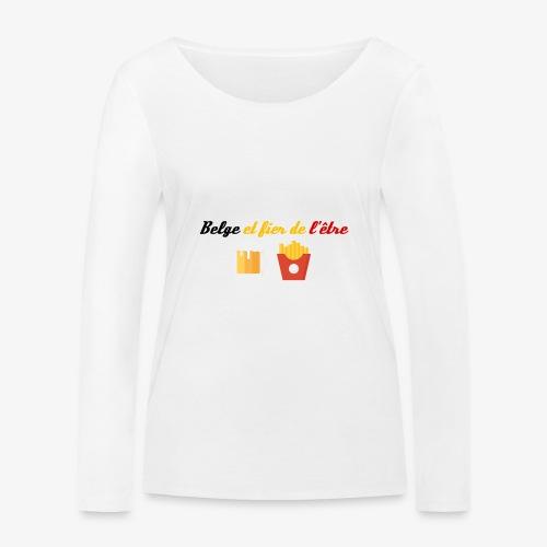 Belge et fier de l'être - T-shirt manches longues bio Stanley & Stella Femme