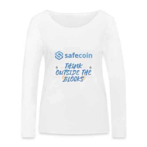 SafeCoin; think outside the blocks (blue) - Women's Organic Longsleeve Shirt by Stanley & Stella